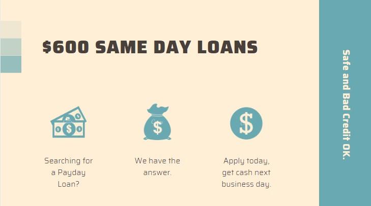 $600 loans online