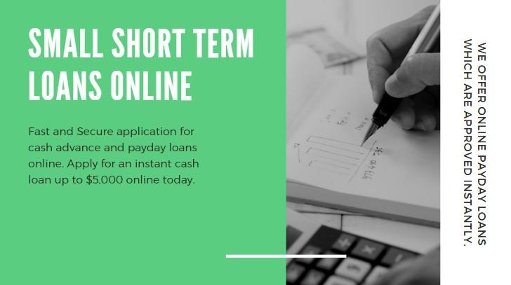 Small Short Term Loans Online